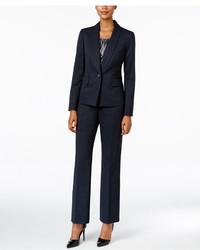 Le Suit Three Piece One Button Pantsuit