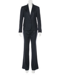 Gucci Leather Trimmed Wool Pantsuit