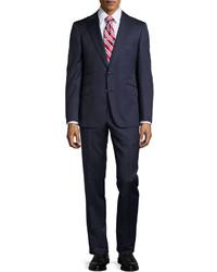 Robert Graham Modern Fit Ashford Two Piece Pinstripe Suit Navy