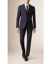 Burberry Modern Fit Wool Part Canvas Suit