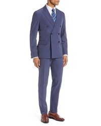 Hugo Namilben Slim Fit Stretch Double Breasted Solid Suit