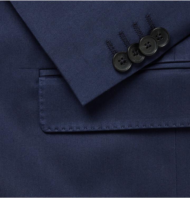 8549b4963 Hugo Boss Navy Slim Fit Stretch Cotton Suit, $795 | MR PORTER |  Lookastic.com