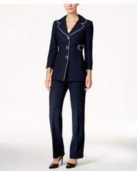 Piped trim pantsuit medium 1159525