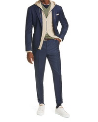 Brunello Cucinelli Shadow Plaid Wool Suit