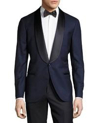 Brunello Cucinelli Shawl Lapel Two Piece Tuxedo Suit Blue