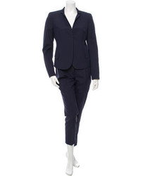Akris Silk Fitted Pantsuit