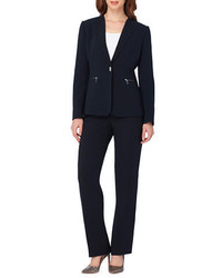 Tahari Arthur S Levine Single Breasted Pants Suit Set