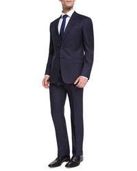 Giorgio Armani Two Button Soft Basic Suit Navy