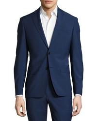John Varvatos Wool Blend Two Piece Suit Blue