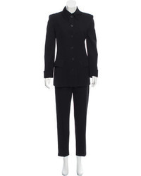 Calvin Klein Collection Wool Skinny Pantsuit
