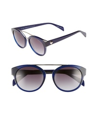 Draper James 51mm Round Sunglasses