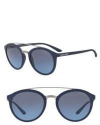 Giorgio Armani 52mm Logo Round Sunglasses