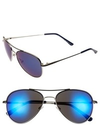 BCBGMAXAZRIA 55mm Aviator Sunglasses