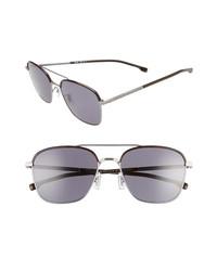 BOSS 58mm Polarized Aviator Sunglasses