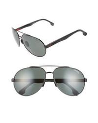 Carrera Eyewear 63mm Polarized Aviator Sunglasses
