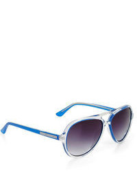 BCBGMAXAZRIA Clear Aviator Sunglasses