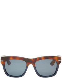 Valentino Brown Navy Rockstud Sunglasses