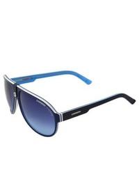 Carrera Ca 32s Vr6 Blue White Plastic Aviator Sunglasses