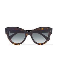 Fendi Cat Eye Tortoiseshell Acetate Sunglasses