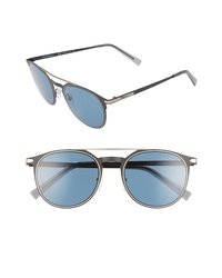 Salvatore Ferragamo Classic 52mm Round Sunglasses