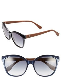 Fendi 55mm Retro Sunglasses Brown Red