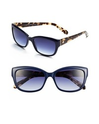 Kate spade new york kate spade johanna 53mm retro sunglasses navy one size medium 172345