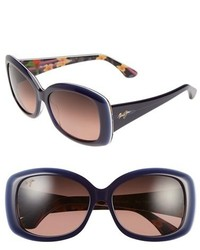 Maui Jim You Move Me 60mm Polarizedplus2 Sunglasses Navy White Silk