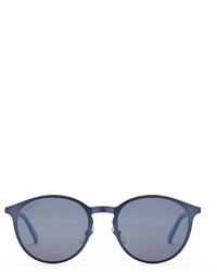 Gucci Metal And Injected Web Round Frame Sunglasses