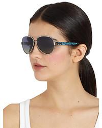 c0c63ad5de45a ... Tory Burch Plastic Metal Aviator Sunglasses