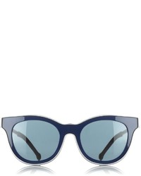 Preen By Thornton Bregazzi Navy Trimmed Bromley Sunglasses