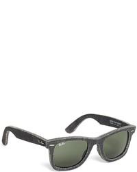Brooks Brothers Ray Ban Wayfarer Black Denim Sunglasses
