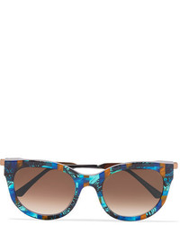 Thierry Lasry Lively Cat Eye Acetate And Rose Gold Tone Sunglasses Blue