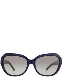 ffa9f8289ff ... Tory Burch Two Tone Plastic Cat Eye Sunglasses Navy