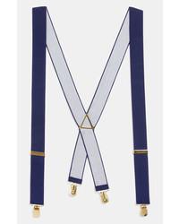 Topman Navy Suspenders