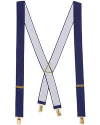 Topman Navy Wide Plain Suspenders