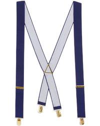 Topman Navy Wide Plain Suspenders