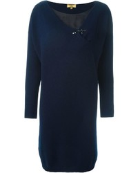 Fay Buckled Detail Sweater Dress
