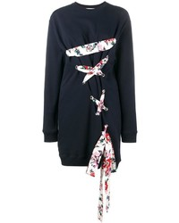 MSGM Lace Up Sweatshirt Dress