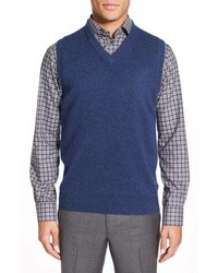 Nordstrom Men's Shop Cashmere V Neck Sweater Vest