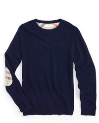 Burberry Elbow Patch Cashmere Sweater