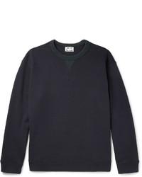 Acne Studios Field Contrast Trimmed Fleece Back Cotton Jersey Sweatshirt