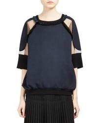 Stella McCartney Fringed Sheer Inset Sweatshirt