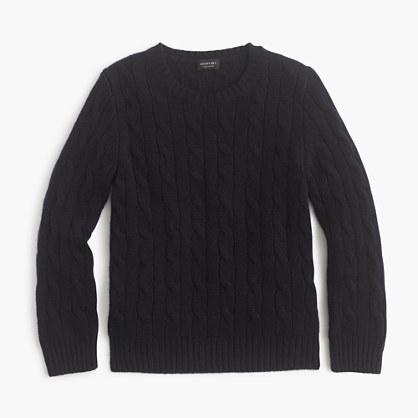 J.Crew Kids Cashmere Cable Crewneck Sweater