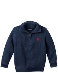 Chaps Toddler Boy Quarter Zip Mockneck Cotton Sweater