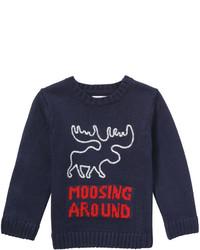 Joe Fresh Toddler Boys Graphic Sweater Navy