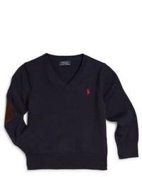 Ralph Lauren Toddler Little Boys Cotton Elbow Patch Sweater