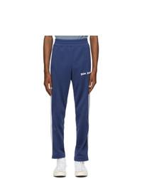 Palm Angels Blue Classic Slim Track Pants