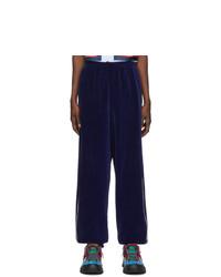 Gucci Blue Loose Chenille Lounge Pants