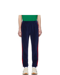 Gucci Blue Velour Jogging Lounge Pants