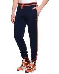 Stefano Ricci Contrast Trim Drawstring Jogging Pants Navy